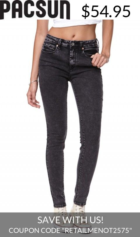 Save With Us! - Womens Bullhead Denim Co Jeans - Bullhead Denim Co High Rise Black Acid Skinniest Jeans