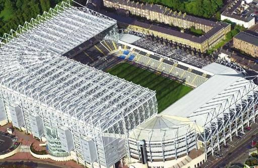 St James' Park - home to Newcastle united football team.( the magpies)