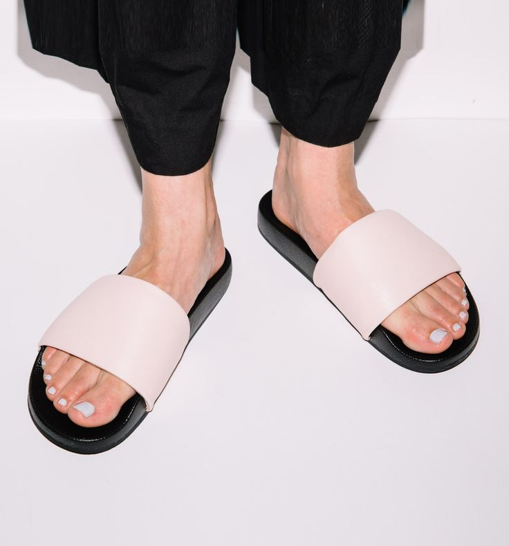 Radical Yes - 'The Magic' Luxe Leather Pool Slide Pink