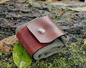 Cuir et huile toile toile Bushcraft ensileuse pochette sac belle Celtic conçoivent nous livraison gratuite