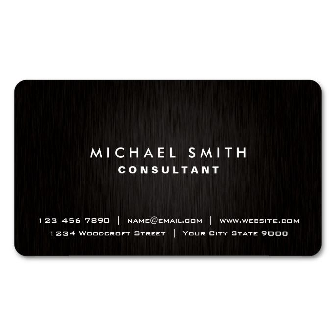 472 best nice looking simple business card designs images on elegant professional plain black modern metal look business card colourmoves
