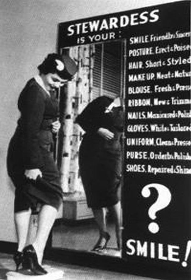 vintage airlines stewardess picture