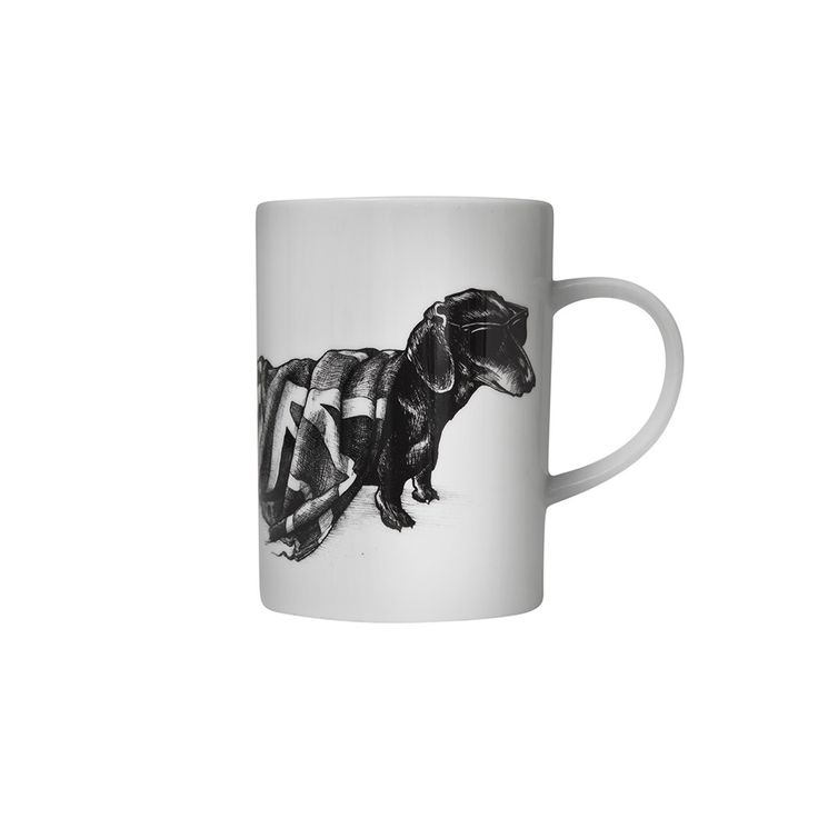 Enjoy the perfect cup of tea in extravagance with this indulgent Marvellous Mug from Rory Dobner. This charming mug features a stunning jet black ink illustration in Rory Dobner's signature quirky s