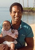 OJ Simpson and his daughter
