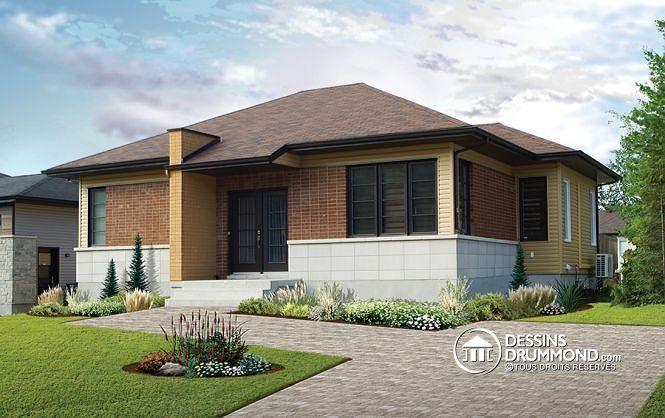 Belle réussite d'un modèle contemporain très économique de 2 chambres ! Jettez un oeil aux options, prix & alternatives en cliquant ici : http://www.dessinsdrummond.com/detail-plan-de-maison/info/1003051.html