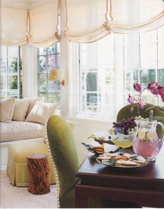 Roman Shades Weren't Built In A Day - What Until You See! - laurel home | gorgeous sheer linen Roman shades by Markham Roberts