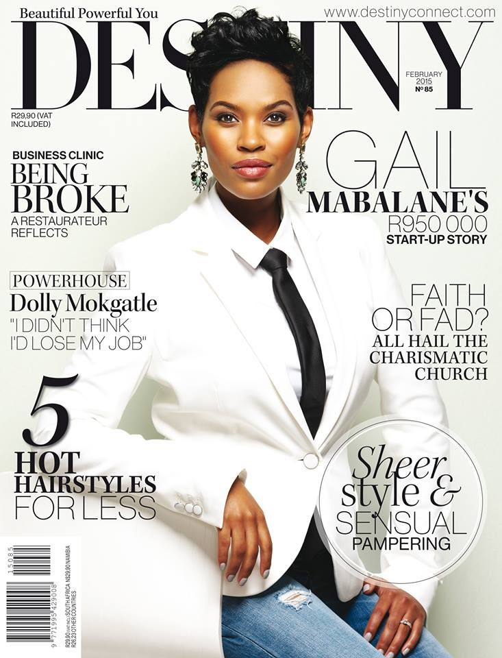 Gail Mabalane, Destiny February 2015 Cover