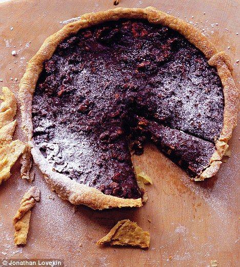 Recipe: Walnut, chocolate and honey tart