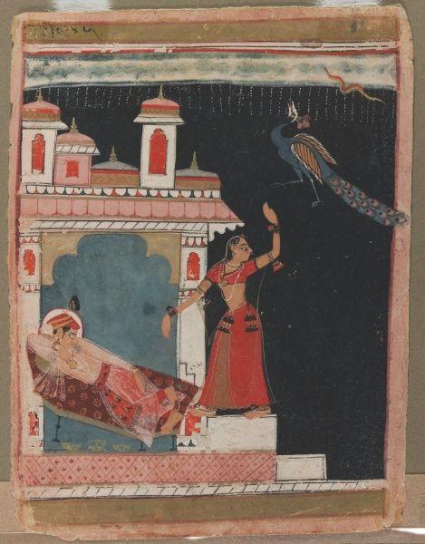 Madhu Madhavi Ragini, c. 1630-1640, Rajasthan, Malwa school.