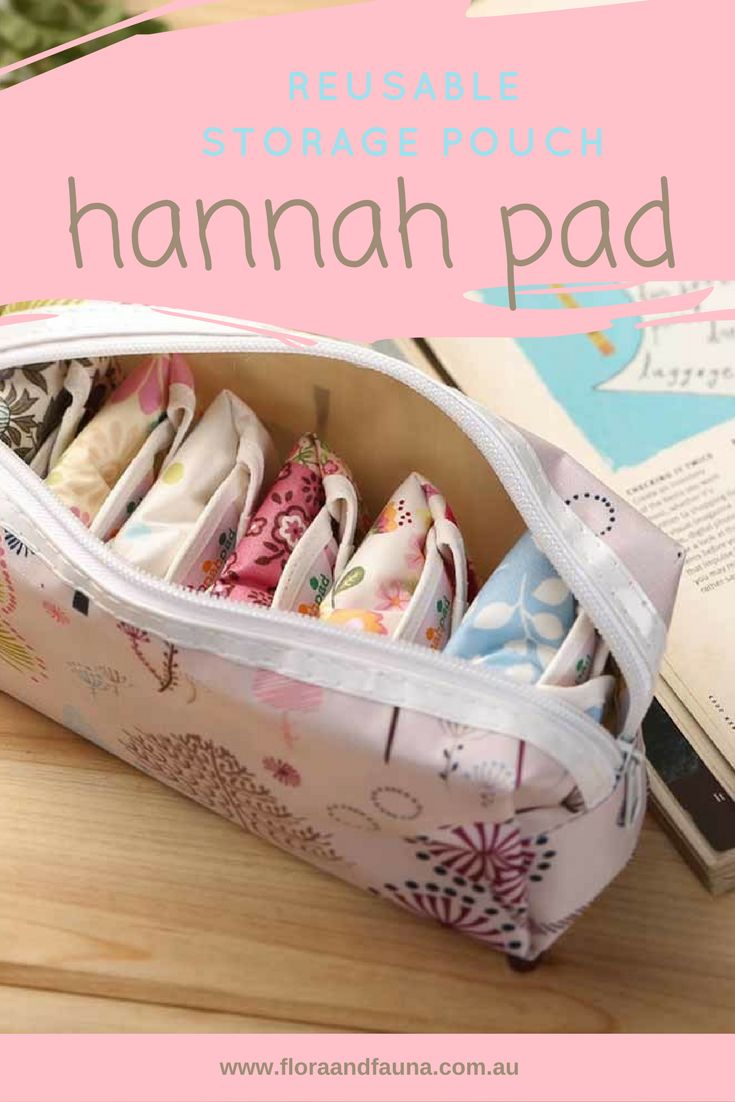 This gorgeous pouch is a great way to store your Hannah Pads while on the go or to organize your lingerie draw
