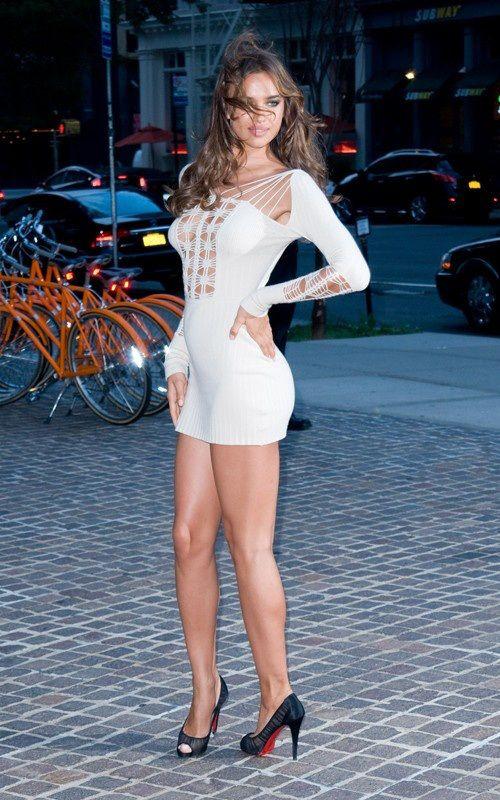 Irina Shayk, Dress, Legs, High Hills, Shoes, Woman, Model ...