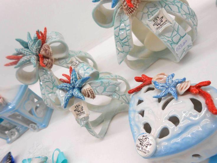 Wedding favors original for the sea themed wedding fine porcelain Capodimonte
