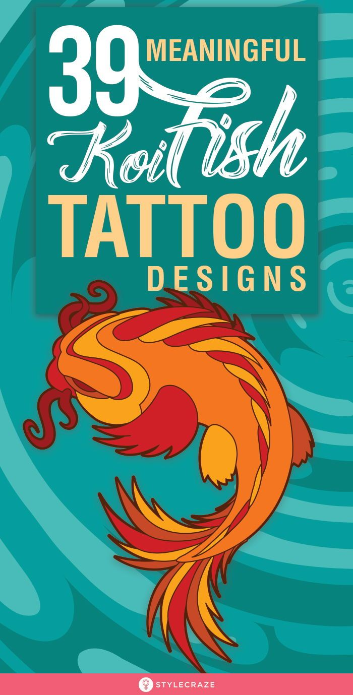 39 Meaningful Koi Fish Tattoo Designs For Tattoo Lovers