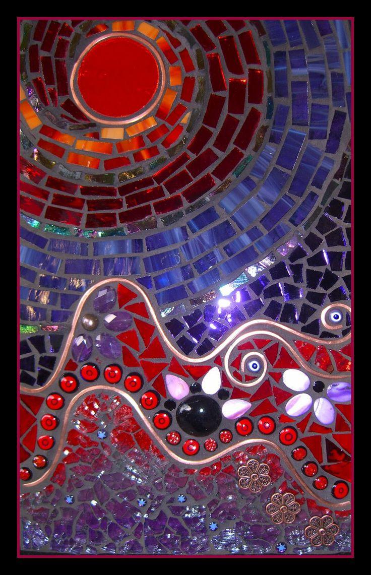 120 Best Mosaic Sun Moon Spirals Images On Pinterest