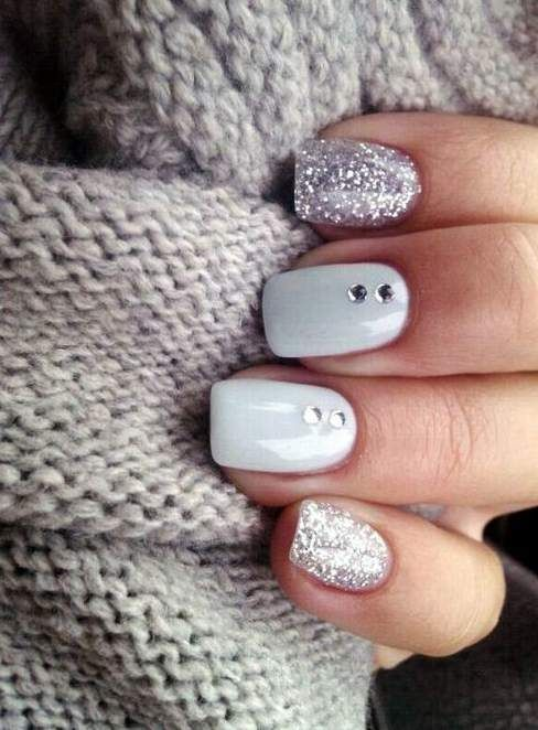 acrylic winter nails ideas simple