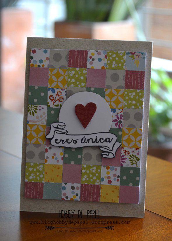 Tarjeta Dia de la Madre / Mothers Day Card usando sellos #latinacrafter. Por Natalia Medina Hobby de Papel