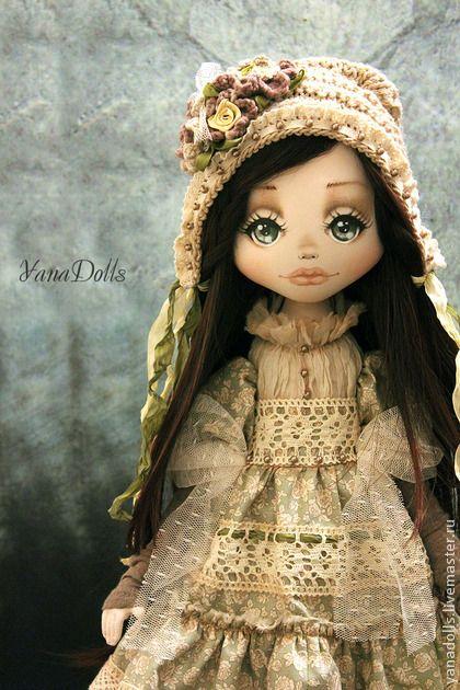 Рене - оливковый,кукла ручной работы,кукла,кукла в подарок,кукла текстильная