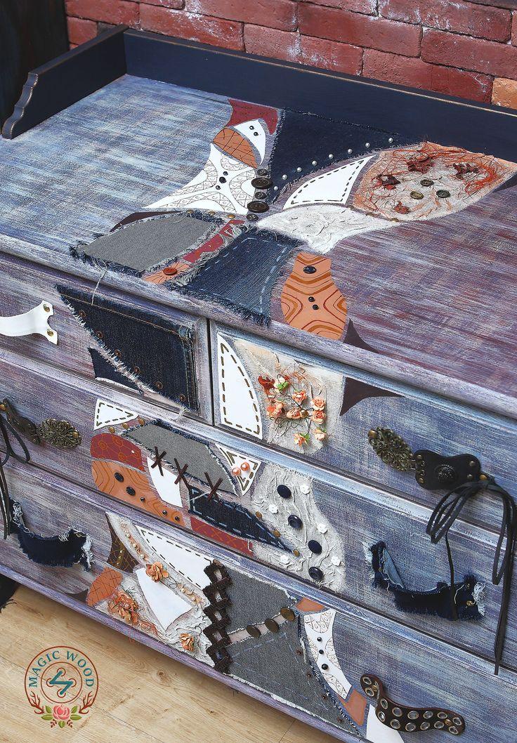 """Бохо-комод из сосны """"Джипси"""", размер 95*50*75. 25 000 руб. #бохо #комод #мебель #декорирование #мебельручнойработы #бохошик #дизайн #интерьер #boho #decor #furniture #woodworking #interior #design #magicwood"""