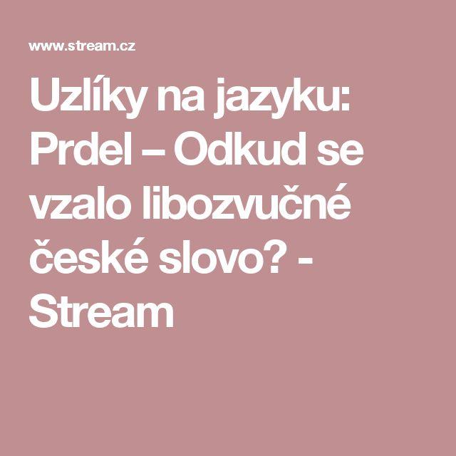 Uzlíky na jazyku: Prdel – Odkud se vzalo libozvučné české slovo? - Stream