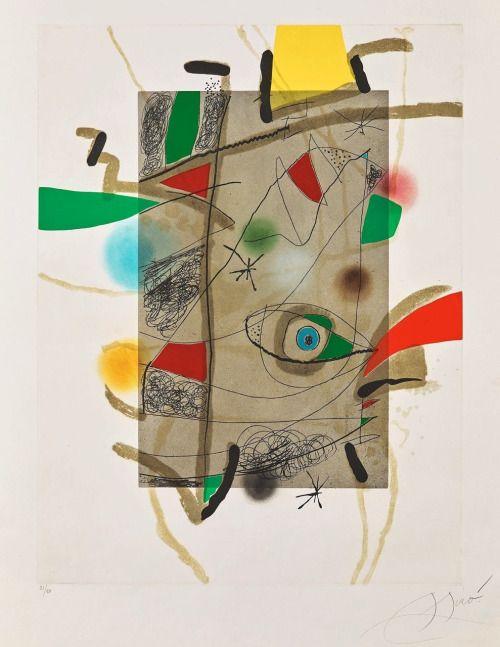 """Joan Miró """"Llibre Dels Sis Sentits III"""", 1981"""