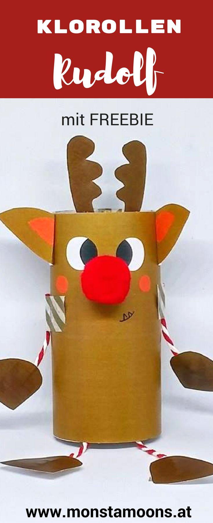 Rudolf das Klorollenrentier, Rentier basteln, Rudolph craft, Rudolf basteln, Weihnachten, Basteln für Weihnachten, christmas crafts