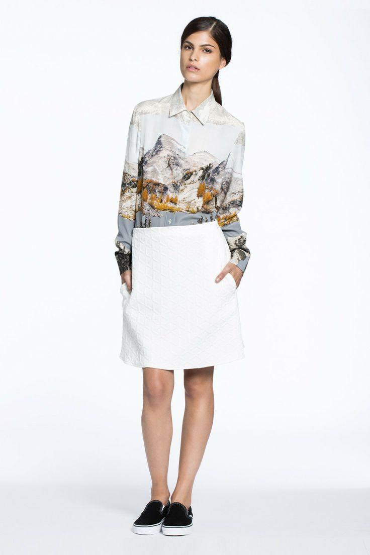 Wayside Silk Shirt Washington Print $289.00 AUD