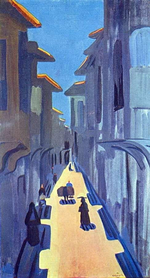 1910 Улица. Полдень. К., т. 66х39 ГТГ - Сарьян Мартирос Сергеевич