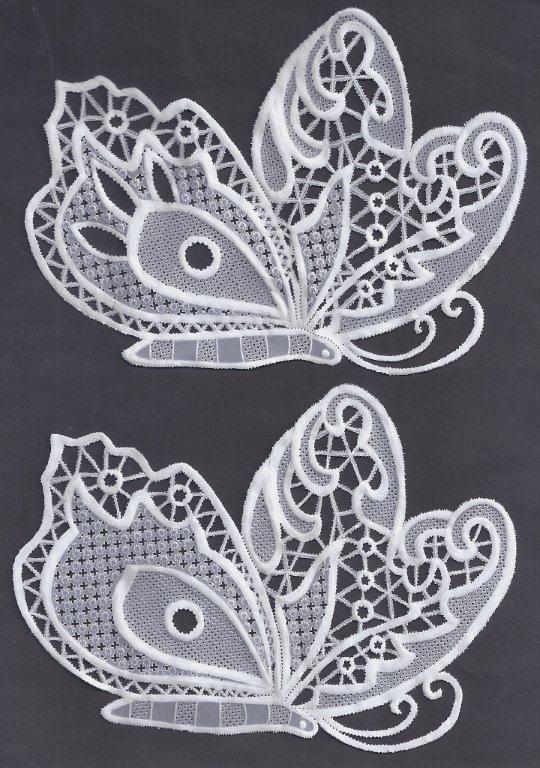 lace butterflies