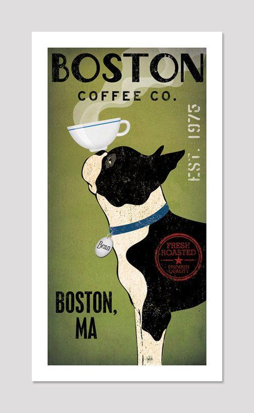 BOSTON TERRIER Free Customization Personalization by nativevermont, $39.00
