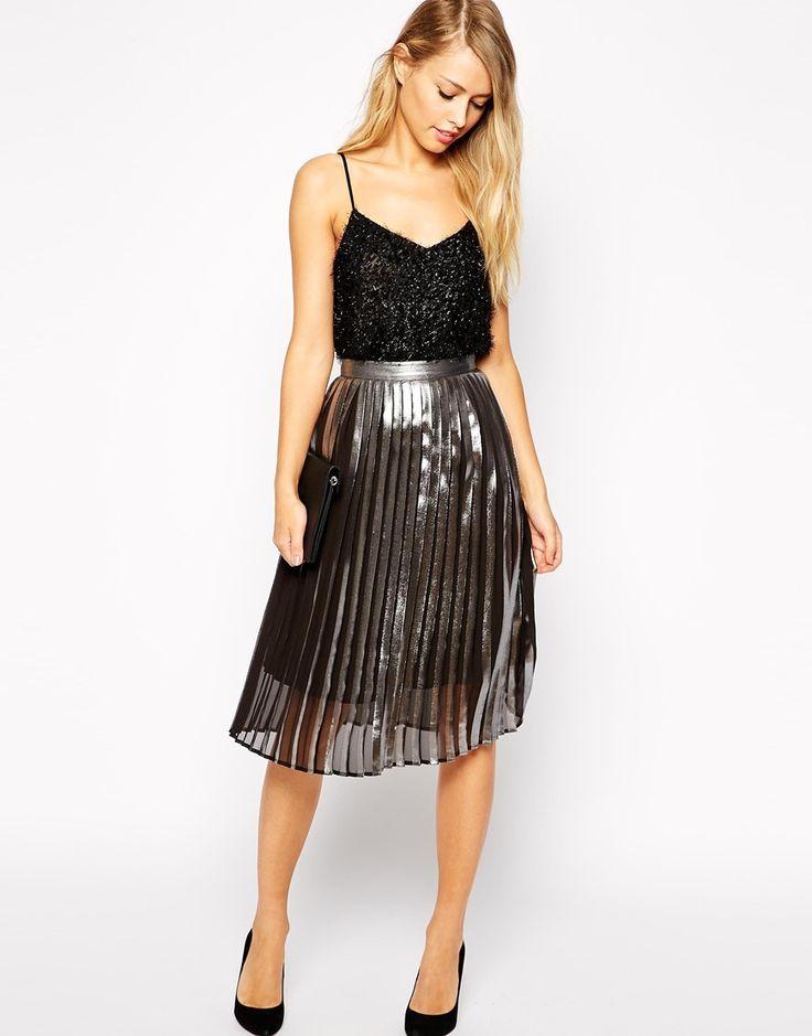 25  best ideas about Metallic pleated skirt on Pinterest ...