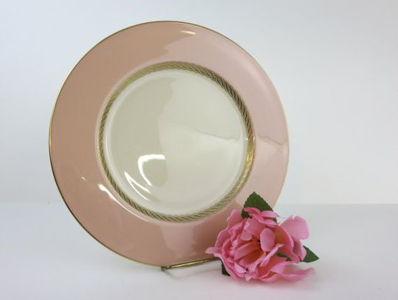 Lenox China Dinner Plates Set of 4 Large Plates Lenox Caribbee Pink with & 26 best Lenox Gold images on Pinterest | Dinnerware Lenox china and ...