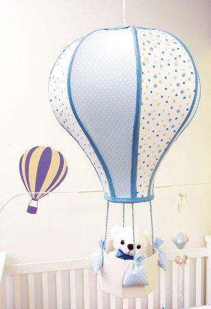 bebek odası için balon avize yapımı