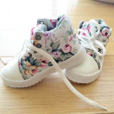 Flower sneakers for spring!