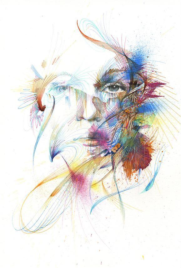 Upea Derwent Graphik Line Painter -maalikynillä toteutettu työ. - Crystalline by Carne Griffiths #derwent #graphik #linemarker #linemarkers #pens #linemarkerpen #pigmentpainter #tussit #fineliners #permanent #pigmentink