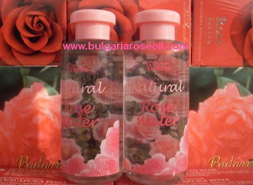 2 BOTTLES x ORGANIC BULGARIAN ROSE WATER FACE & BODY +CERTIFICATED