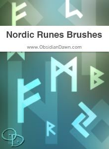 Obsidian Dawn Photoshop & GIMP Brushes - Nordic Runes