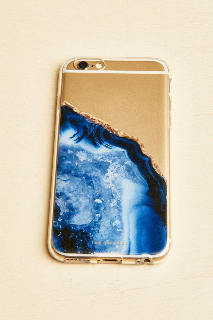 Dark Blue Agate iphone 6/6s Case - Earthbound Trading Company