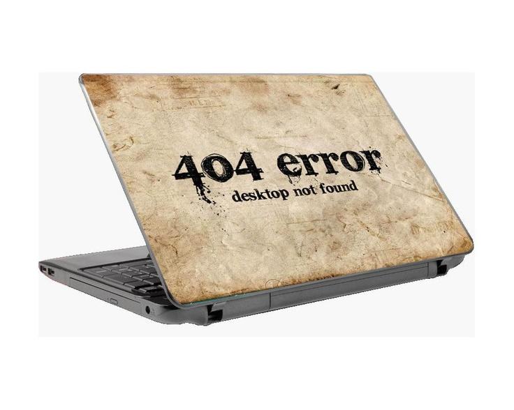 404 error, αυτοκόλλητο laptop