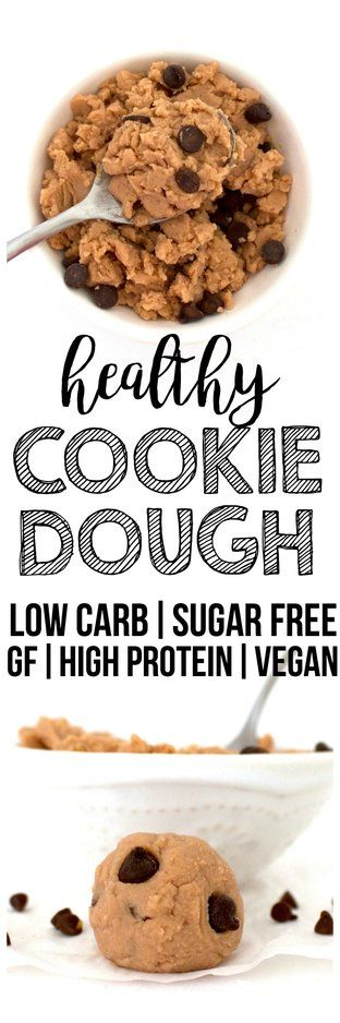 Healthy Cookie Dough! (Low-Carb, Vegan, Gluten-Free, Sugar-Free, High-Protein)