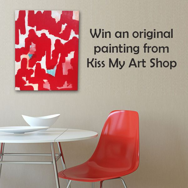 """Win an original painting from KISS MY ART SHOP and bring a touch of originality to your decor. To participate just click """"Like"""" on the page AND on this photo to be eligible! $200 value http://kissmyartshop.com/"""