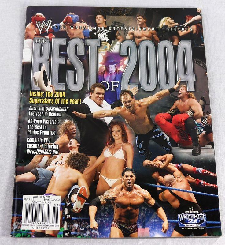 WWE Presents 2005 The Best of 2004 WrestleMania XX John Cena Jericho Pin Ups