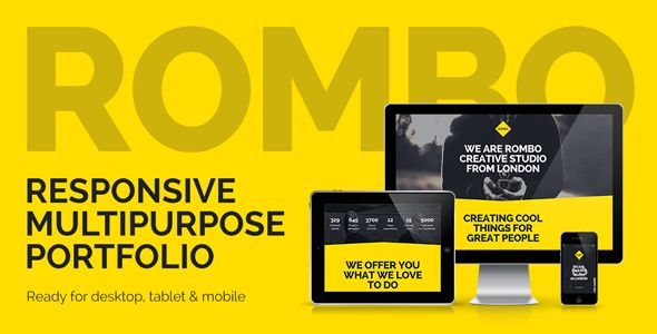 Rombo - Responsive Multipurpose Portfolio Muse Template Muse Templates / Creative by vinyljunkie