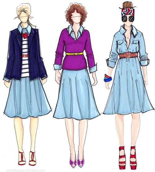 3 different ways to dress up a shirtdress--I have a beautiful navy shirt dress and I never wear it. Maybe this will help.