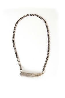 Large Horizontal Antler Chain Necklace