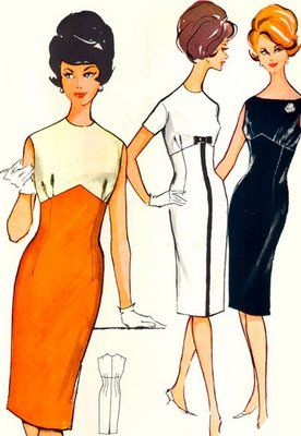 This must be from the sewing pattern envelope...they are all the same dress in different fabrics.