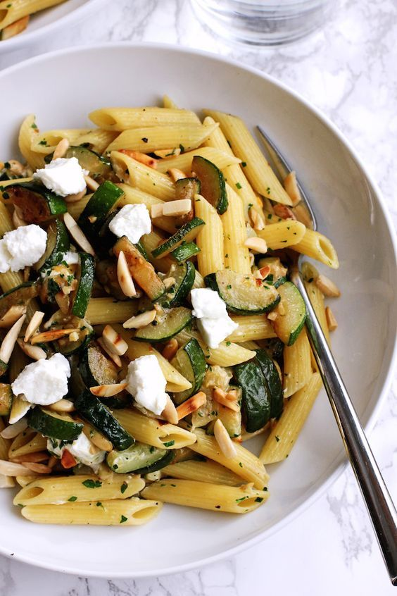 Pasta with Goat Cheese and Zucchini | Green Valley Kitchen