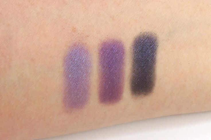 Urban Decay, Urban Spectrum Palette, purple row Left to right: Omen, Flashback and Voodoo