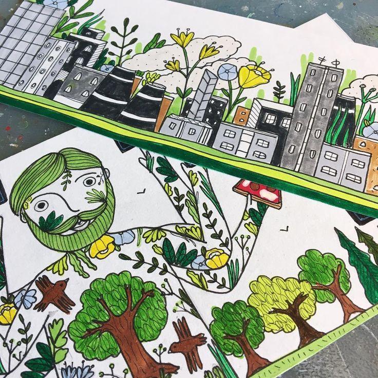 Le bozze per un nuovo cliente�������� #oecustomlab #molotovone4all #wallart #walldecor #wallpainting #workwithkids #nature #green #tree #forest #ecology #bio #ristorante #pizzeria #milano http://www.butimag.com/ristorante/post/1481950588085241574_3405480104/?code=BSQ8jVJgIbm