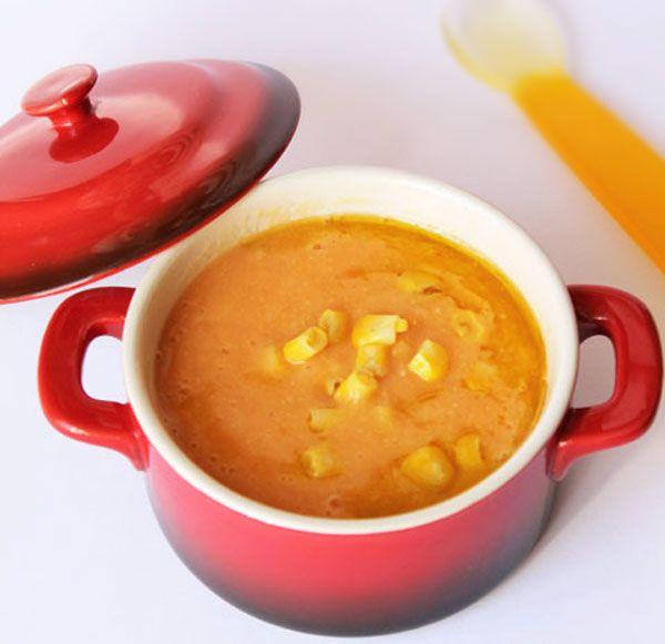Crema de patata y maíz para bebés