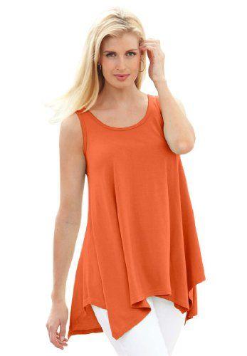 Jessica London Women's Plus Size Tunic Top With Sharktail Vivid Orange,12 Jessica London http://www.amazon.com/dp/B00J2XCCI4/ref=cm_sw_r_pi_dp_8WSAub01FBJMK